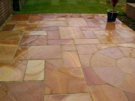 Gloss Sealed Sandstone Patio