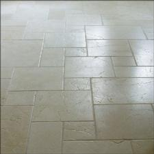 Sealed stone tiled floor