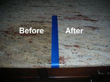 Before and after sealed flooring