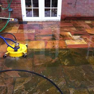 Cleaning of outside patio