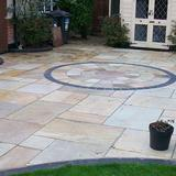 Sealed sandstone patio